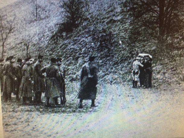 De executie in Parijs (foto uit een film)
