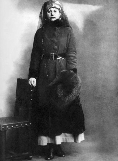 Op de dag van haar arrestatie, februari 1917.